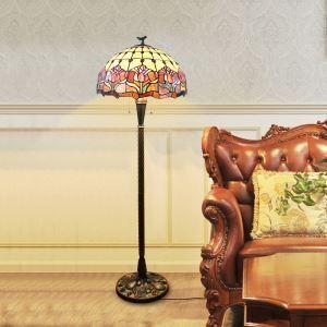 Stehlampe Tiffany Stil Tulpe Design 2 flammig