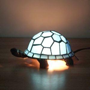Tiffany Tischlampe Schildkröten Design 1 flammig im Schlafzimmer