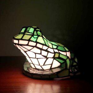Tischleuchte Tiffany Stil Frosch Gestaltet 1 flammig