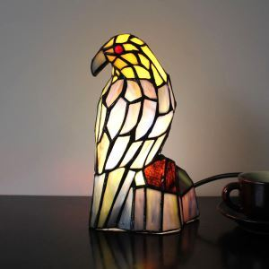 Tischleuchte Tiffany Stil Vogel Gestaltet 1 flammig