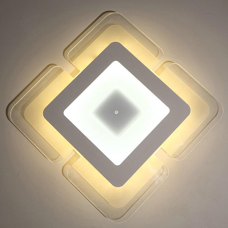 deckenlampe led modern wei eckig design im schlafzimmer. Black Bedroom Furniture Sets. Home Design Ideas