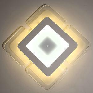 Deckenlampe Led Modern Weiß Eckig Design im Schlafzimmer