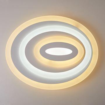 deckenlampe led modern wei oval design im wohnzimmer. Black Bedroom Furniture Sets. Home Design Ideas