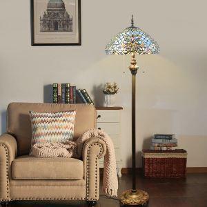 Tiffany Stehleuchte Speziales Design 2 flammig für Schalfzimmer