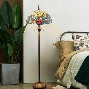 Tiffany Stehleuchte Blumen Design 2 flammig für Wohnzimmer