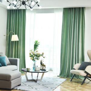 Moderner Vorhang Unifarbe aus Samt im Wohnzimmer