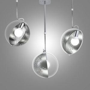 Moderne Pendelleuchte Glas aus Metall Drehbar im Esszimmer-Originell Design