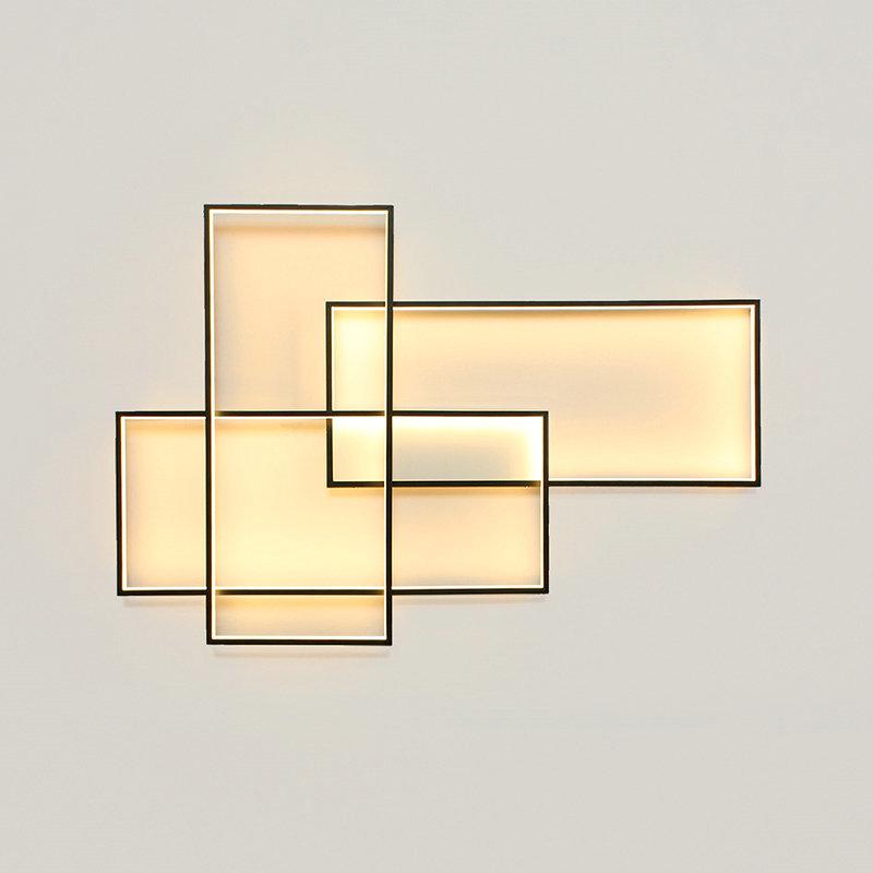 Led deckenleuchte eckig design f r wohnzimmer - Deckenleuchte wohnzimmer design ...
