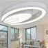Zeige Details für (EU Lager) LED Deckenleuchte Dimmbar Modern aus Acryl Oval Weiß im Schlafzimmer
