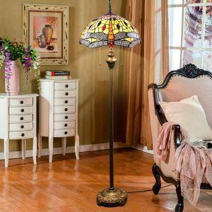 Tiffany Stehlampe Libelle Malerei im Schlafzimmer
