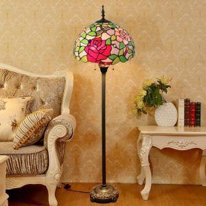 Tiffany Stehlampe Rose Design für Schlafzimmer
