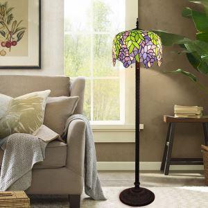 Tiffany Stehleuchte Pflanze Design im Wohnzimmer