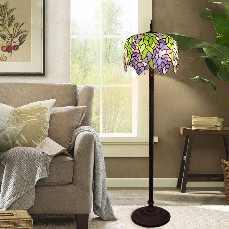 Tiffany stehleuchte pflanze design im wohnzimmer - Stehleuchte wohnzimmer ...