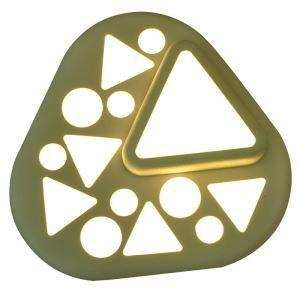 Led Deckenleuchte Modern Abgerundetes Dreieck aus Acryl im Lesezimmer
