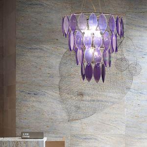 Moderne Pendelleuchte Blätter Design aus Resin - Originell Design