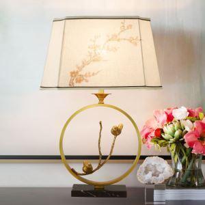Tischleuchte Modern aus Kupfer mit Stoffschirm 1 flammig
