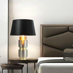 Tischleuchte Modern aus Aluminium mit schwarzem Schirm 1 flammig