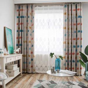 Moderner Vorhang Graugans Design im Kinderzimmer (1er Pack)