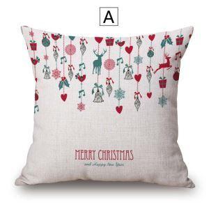 Kreative Kissenhülle Weihnachten Muster aus Baumwolle und Leinen Minimalismus