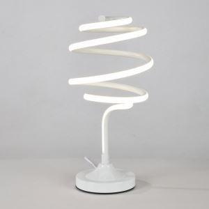Led Tischleuchte aus Aluminium Spirale Design in Weiß