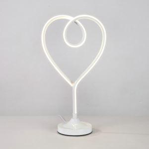Led Tischleuchte aus Aluminium Herz Design
