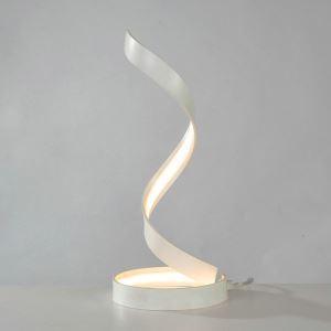 Led Tischlampe Spirale Design aus Aluminium