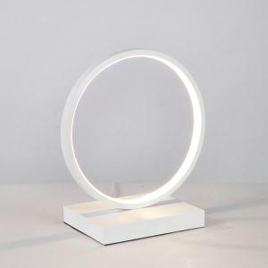 Led Tischleuchte aus Aluminium Ring Design