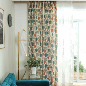Vorhang Cartoon Baum Design aus Polyester für Kinderzimmer (1er Pack)