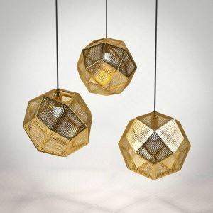 Moderne Pendelleuchte aus Edelstahl Geometrisch Design