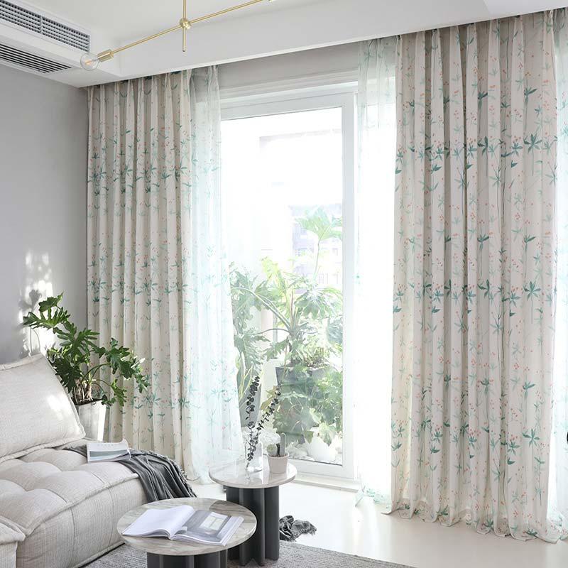 Moderner Vorhang Blüte Design für Wohnzimmer