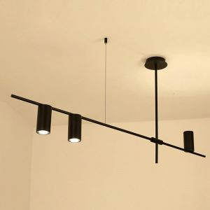 Hängeleuchte Modern aus Eisen Geometrisch Design in Schwarz oder Gold