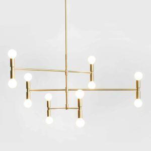 Moderne Hängelampe aus Eisen Geometrisch Design in Gold oder Schwarz