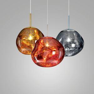 Pendelleuchte Glas Lava Design 1 flammig
