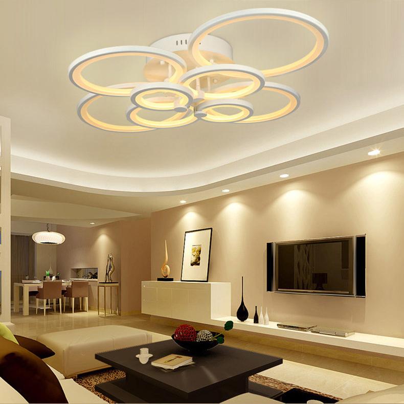 Led Deckenleuchte Modern in Weiß im Wohnzimmer