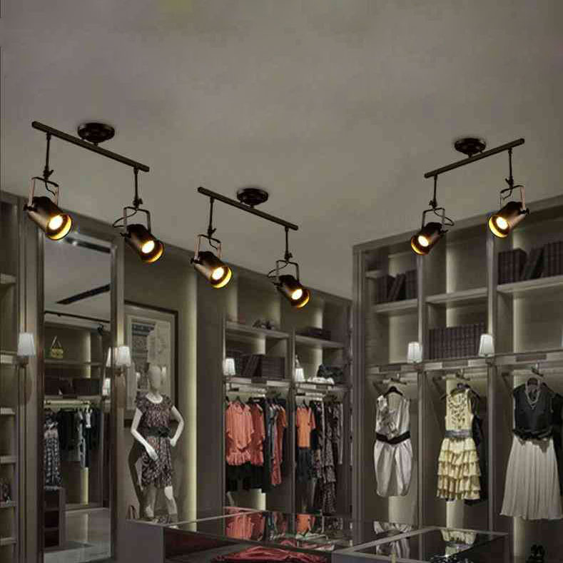 retro strahler 2 flammig im wohnzimmer esszimmer bar. Black Bedroom Furniture Sets. Home Design Ideas