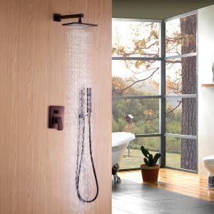 Duschsystem Unterputz aus Kupfer Regenfall mit Handbrause