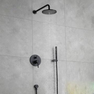 Duscharmatur Unterputz duscharmatur unterputz mit kopfbrause in schwarz