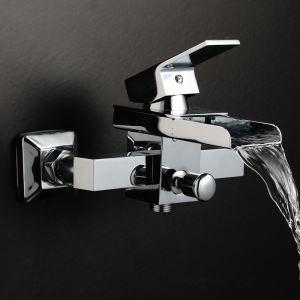 (EU Lager) Badewannenarmatur Modern Wasserfall Wasserhahn - Wandmontage