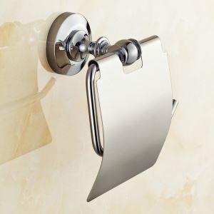 WC-Rollenhalter Bad aus Messing Chrom