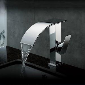 (EU Lager) Waschtischarmatur Bad Wasserfall Zeitgenössisch Chrom
