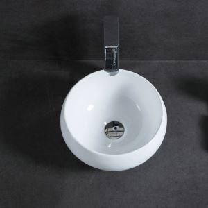 Keramik Waschbecken Weiß für Gäste Bad Rund 32cm (ohne Wasserhahn)