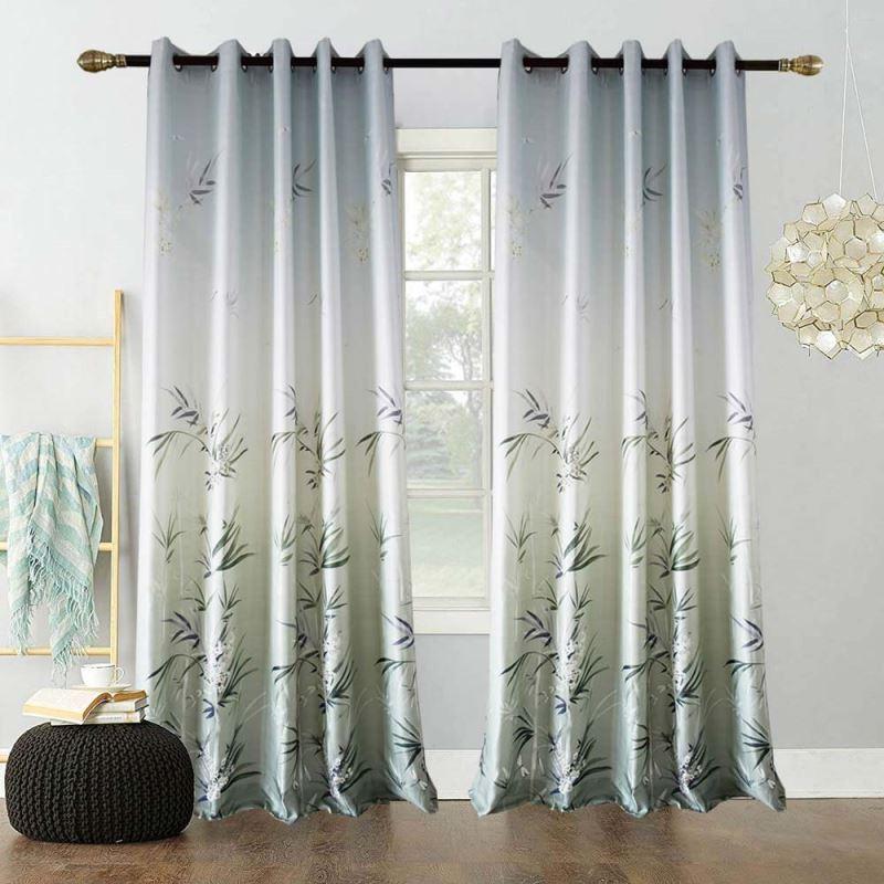 Moderner Velour Vorhang Bambus Design Für Wohnzimmer