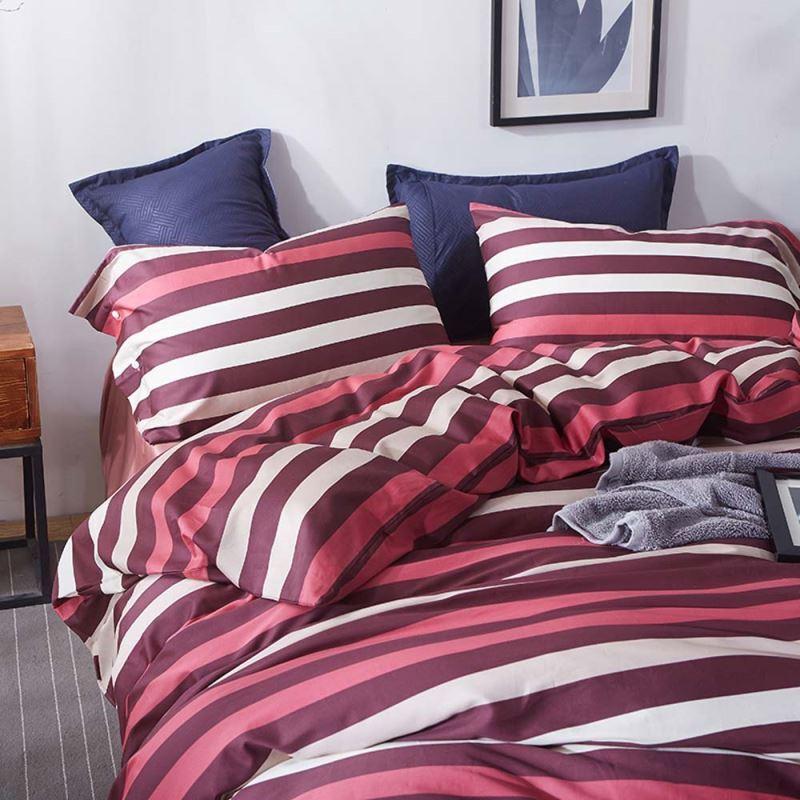 modern bettw sche streifen design aus baumwolle 4 teilig. Black Bedroom Furniture Sets. Home Design Ideas