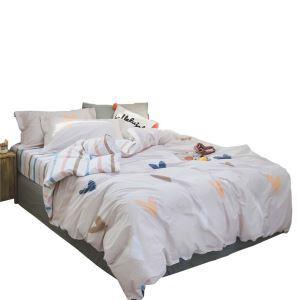Bettwäsche mit Herzmuster aus Baumwolle  4-teilig Landhausstil