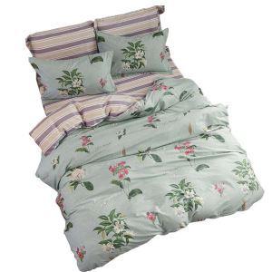 Bettwäscheset Jasmine Motiv aus Baumwolle  4-teilig Landhausstil