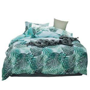 Bettwäscheset Palme Motiv aus Baumwolle  4-teilig Landhausstil