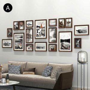Minimalismus Wand Bilderrahmen aus Holz 18er - Set
