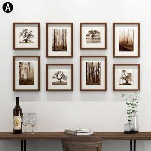 Wand Bilderrahmen Set aus Holz 8er Set Minimalismus