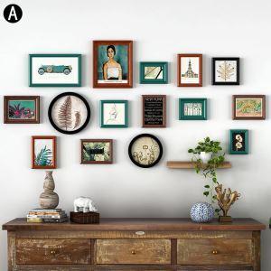 Minimalismus Bilderrahmen aus Holz 15er Set