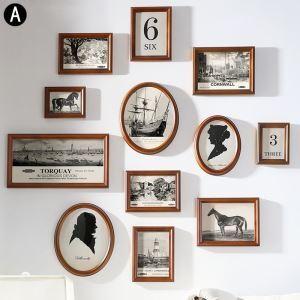 Moderne Bilderrahmen aus Holz 12er Set